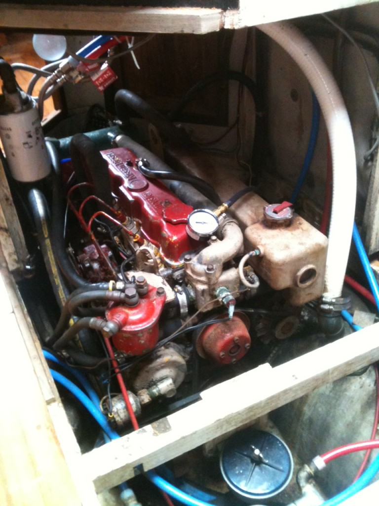 Engine before removal