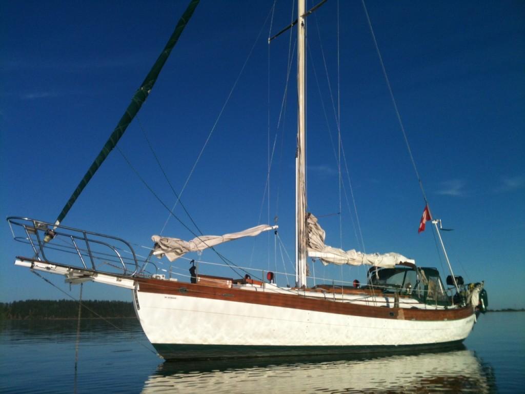 At anchor Saanichton Bay